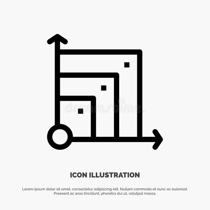 Scalable system, Scalable system, vetenskapslinje symbolsvektor royaltyfri illustrationer