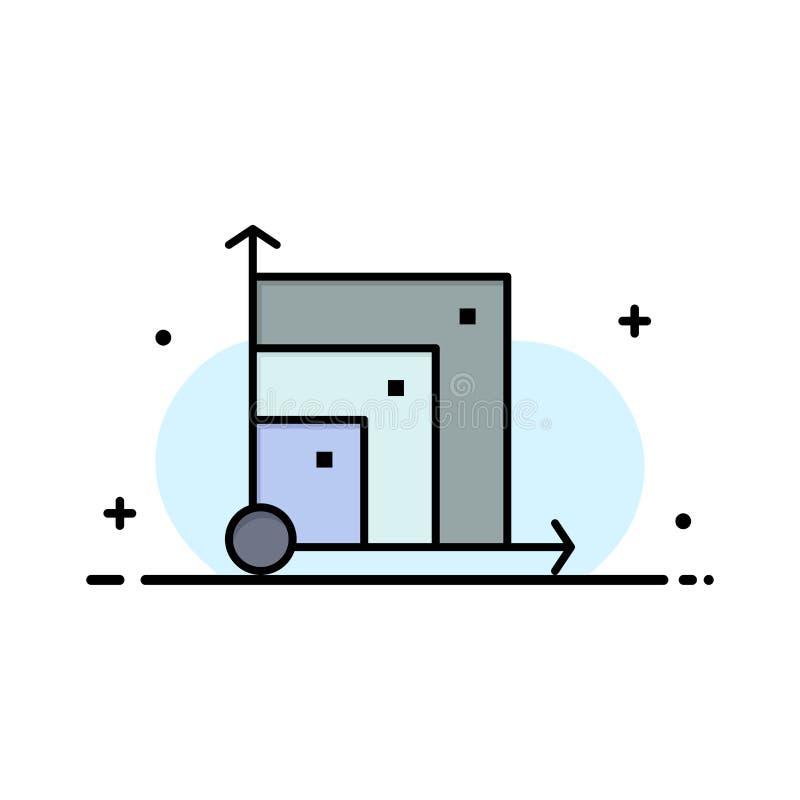 Scalable systemet, det Scalable systemet, plan linje för vetenskapsaffär fyllde mallen för symbolsvektorbanret stock illustrationer