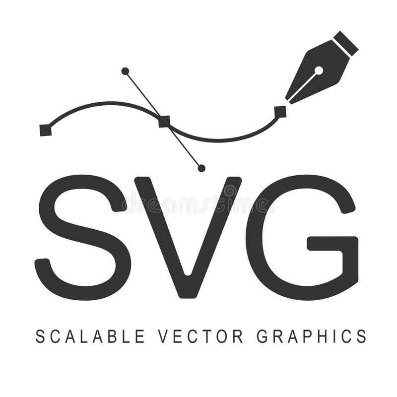 Scalable Vector Graphics, svg de format Conception sensible illustration libre de droits