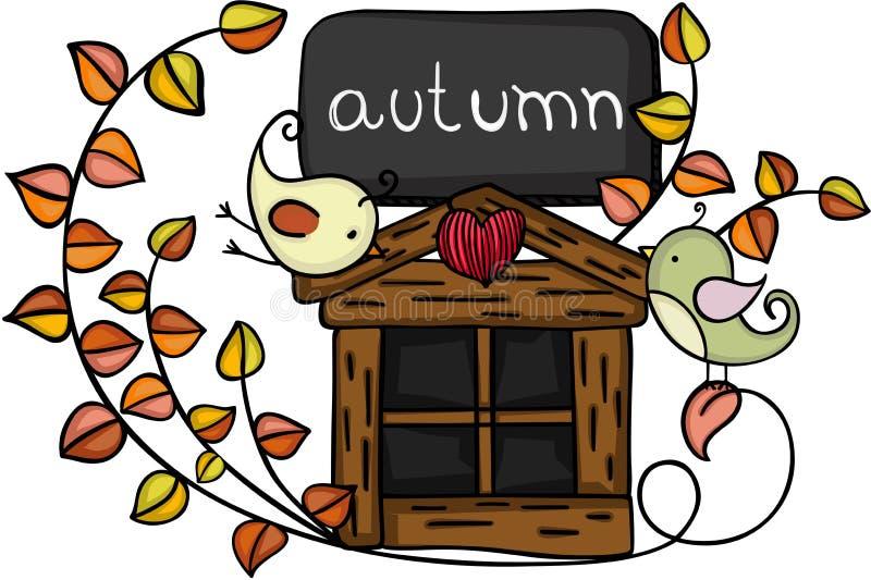 Design element autumn birds stock illustration