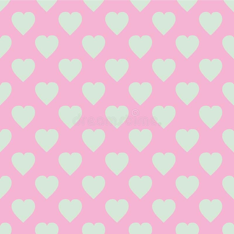 scalable vektor för redigerbar hjärtaillustrationmodell Plan skandinavisk stil för tryck på tyg, gåvasjal, rengöringsdukbakgrunde royaltyfri illustrationer