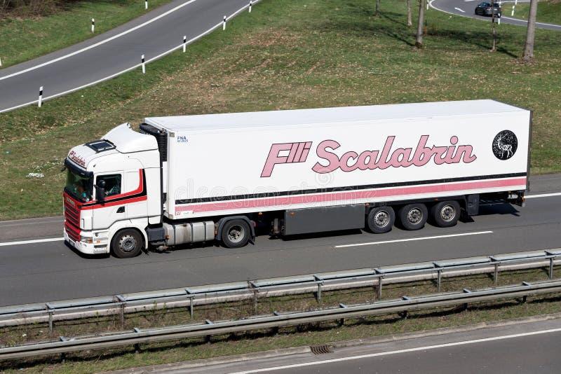 Scalabrinvrachtwagen royalty-vrije stock foto's