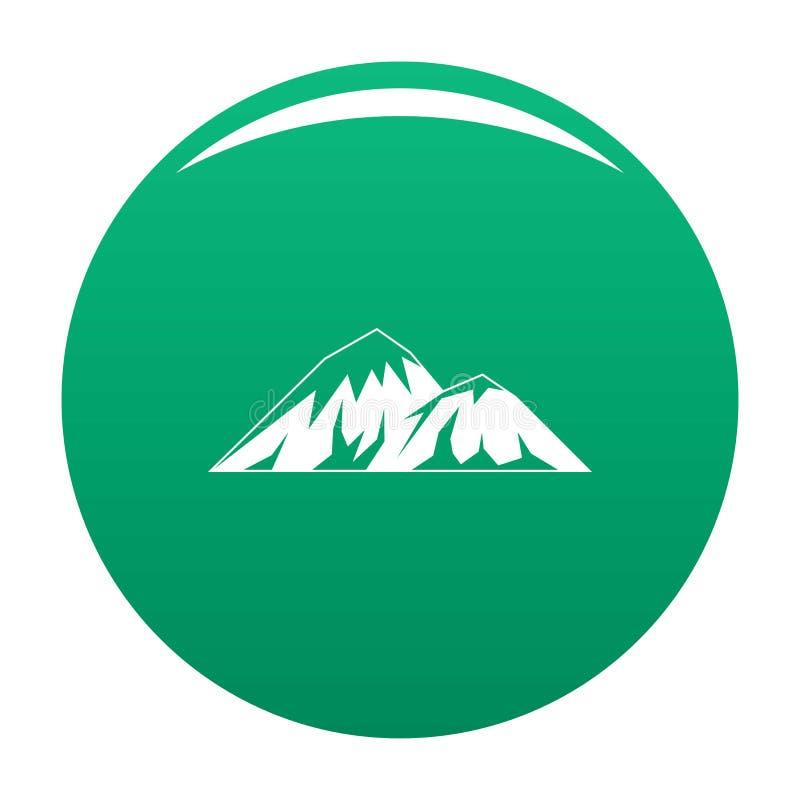 Scalando sul verde di vettore dell'icona della montagna illustrazione di stock