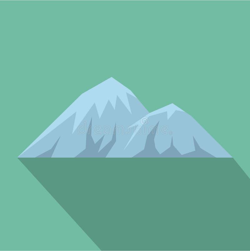 Scalando sull'icona della montagna, stile piano royalty illustrazione gratis