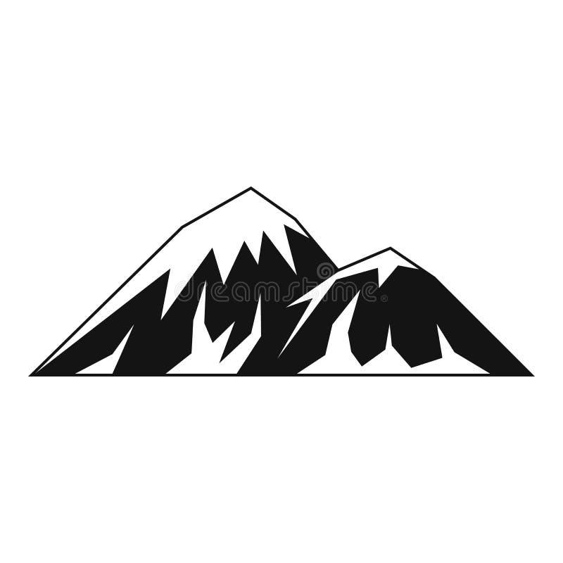 Scalando sull'icona della montagna, stile semplice royalty illustrazione gratis