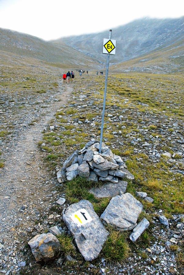 Scalando sulla montagna di Olympus immagini stock libere da diritti