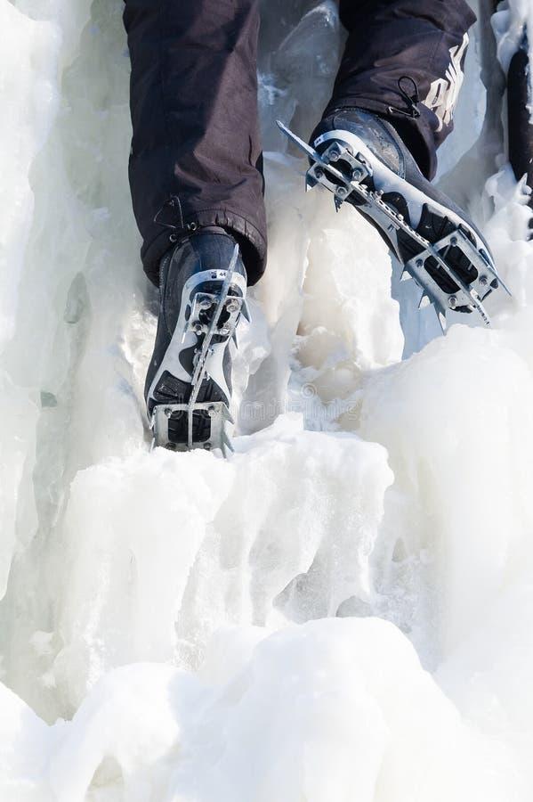 Scalata del ghiaccio fotografie stock