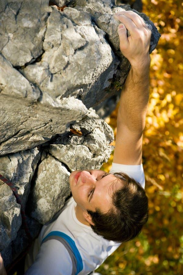 Scalata di roccia immagine stock