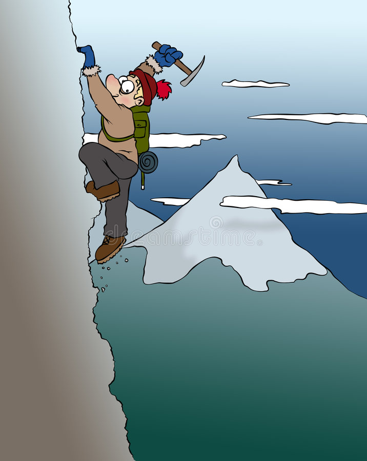 Scalatore della montagna illustrazione vettoriale