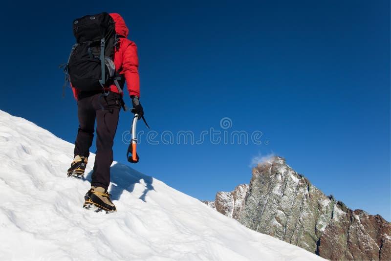 Scalatore di montagna immagini stock libere da diritti