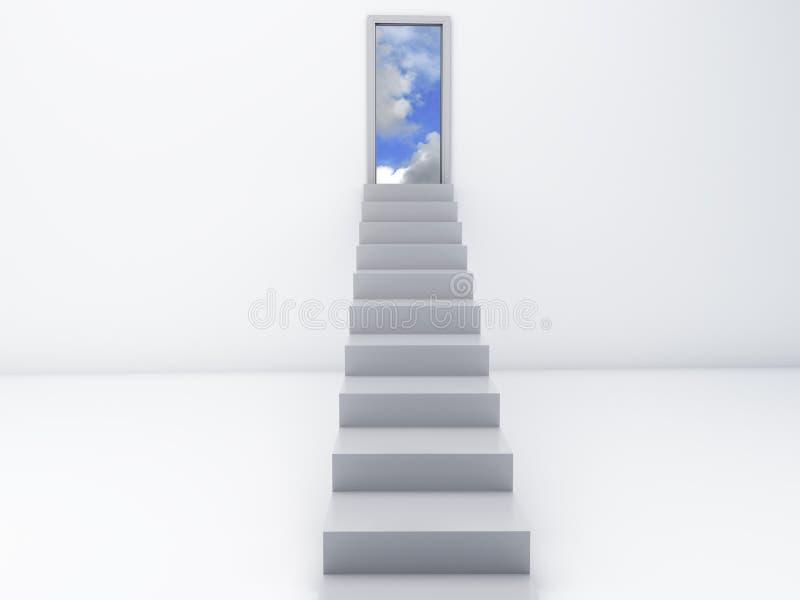 Scale alle porte di cielo Concetto libero illustrazione vettoriale