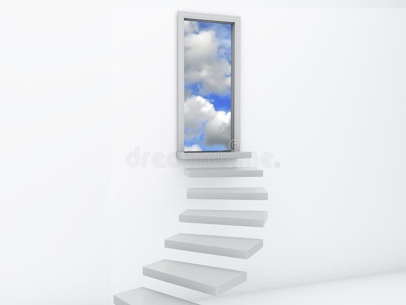 Scale alle porte di cielo Concetto libero illustrazione di stock