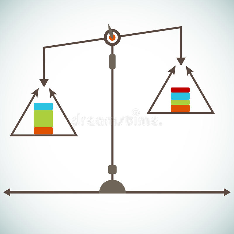 Scale Chart. An image of a scale chart stock illustration