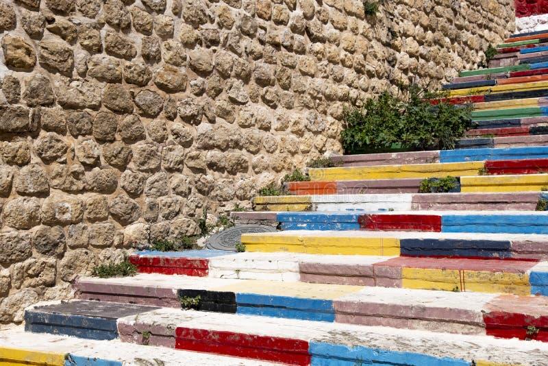Scale Colourful in Mardin, Turchia immagine stock
