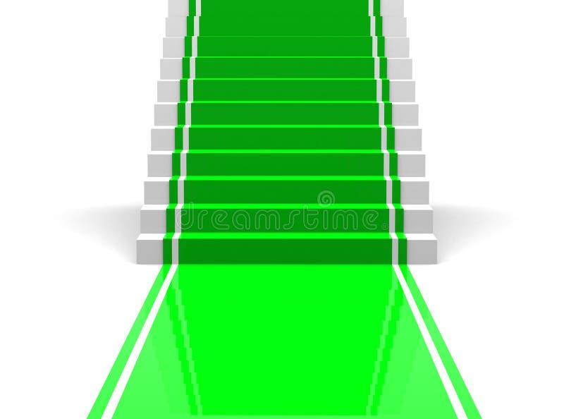 Scale con una moquette verde fotografia stock libera da - Moquette per scale ...