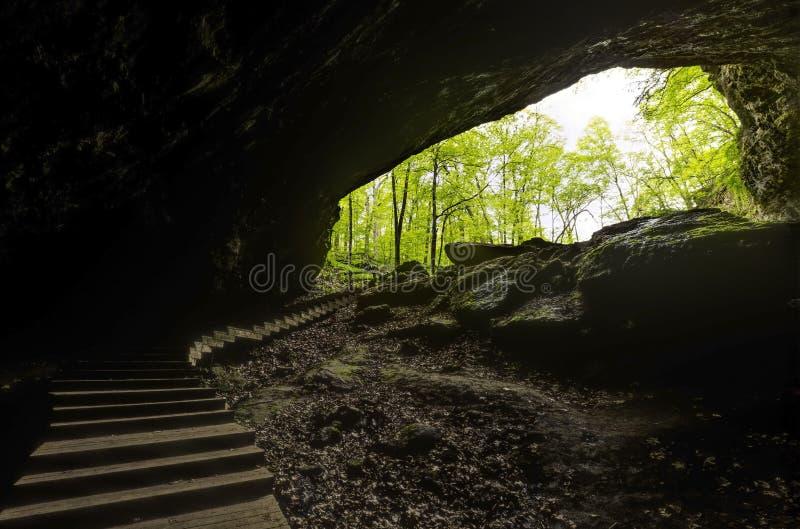 Scale dalla caverna immagini stock