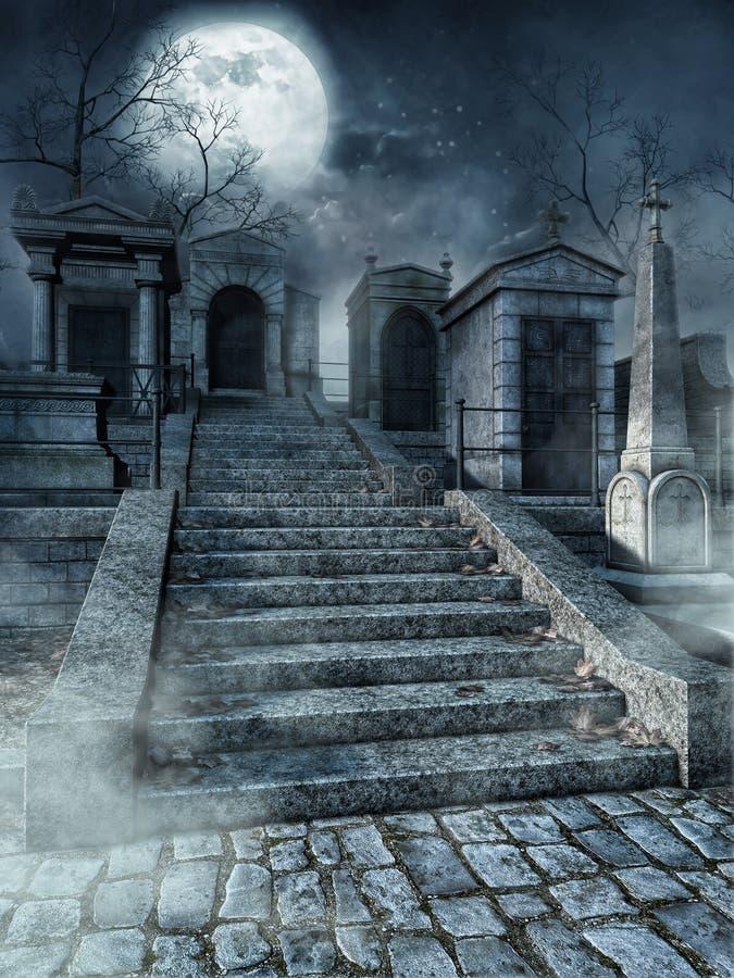 Scale del cimitero illustrazione di stock