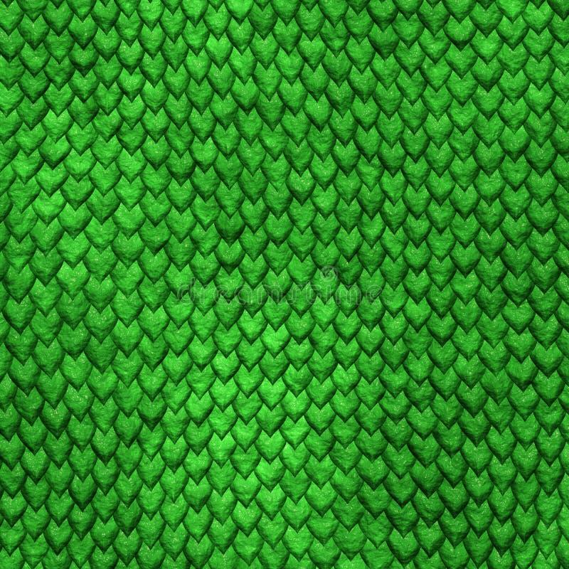 Scale del drago verde di Dragonskin royalty illustrazione gratis
