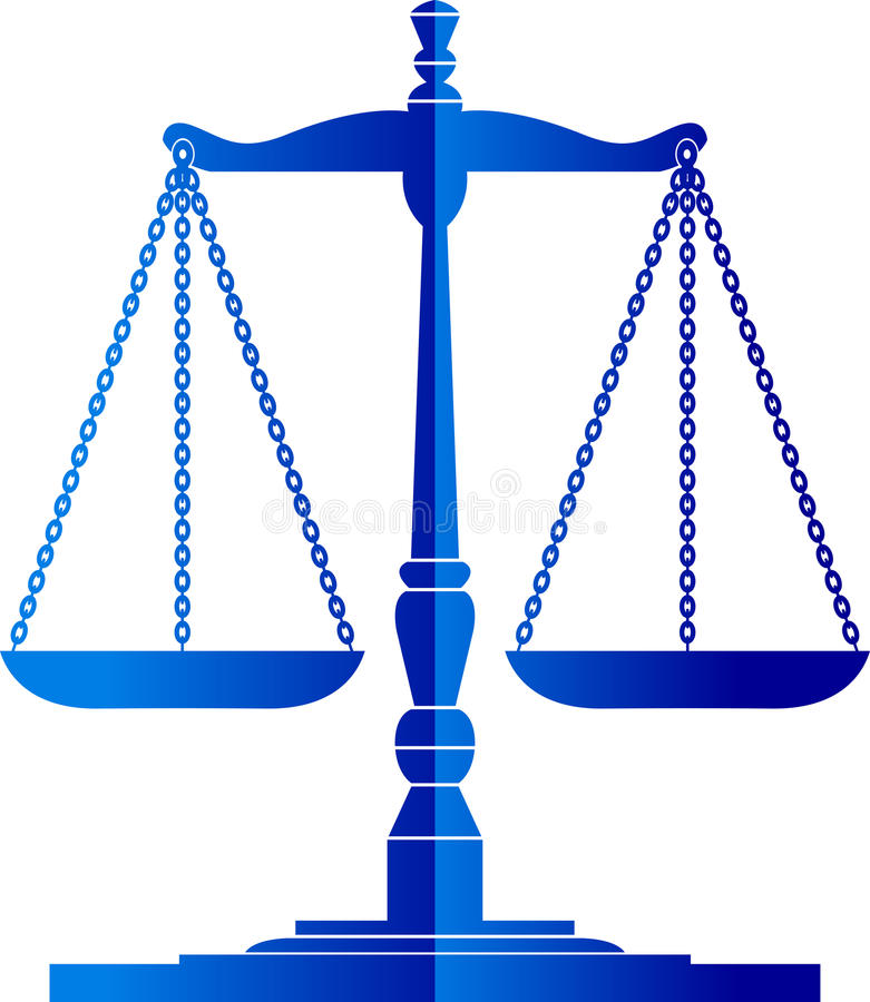 Scale della giustizia illustrazione vettoriale