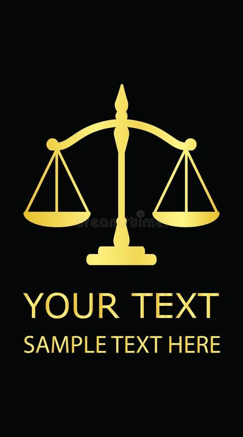 Scale della giustizia dell'oro immagine stock libera da diritti