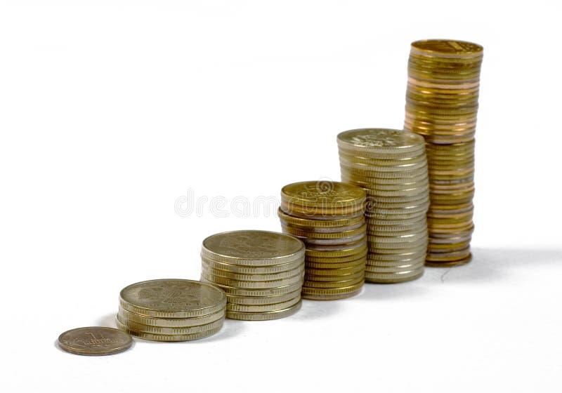 Scale delle monete fotografia stock