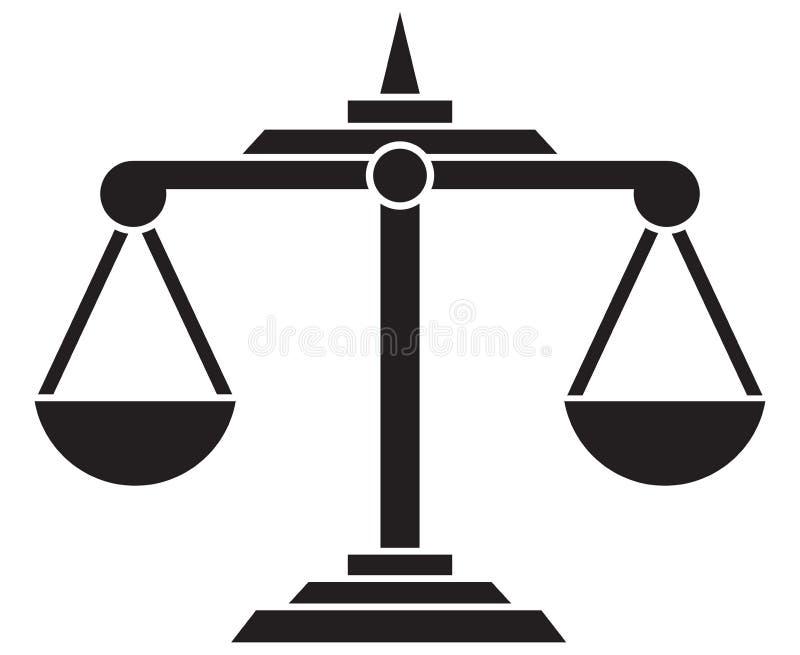 Scale di giustizia illustrazione di stock