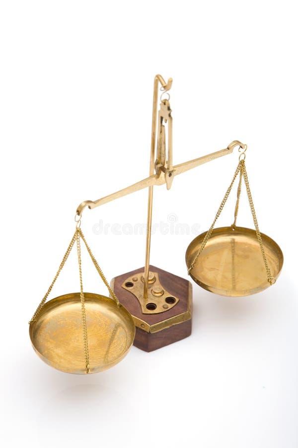 Scale di giustizia immagine stock