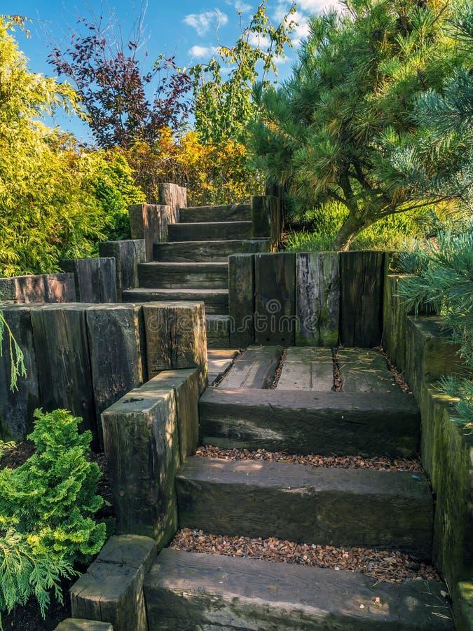Scale di legno del giardino immagine stock immagine di estate wooden 80790677 - Scale in giardino ...