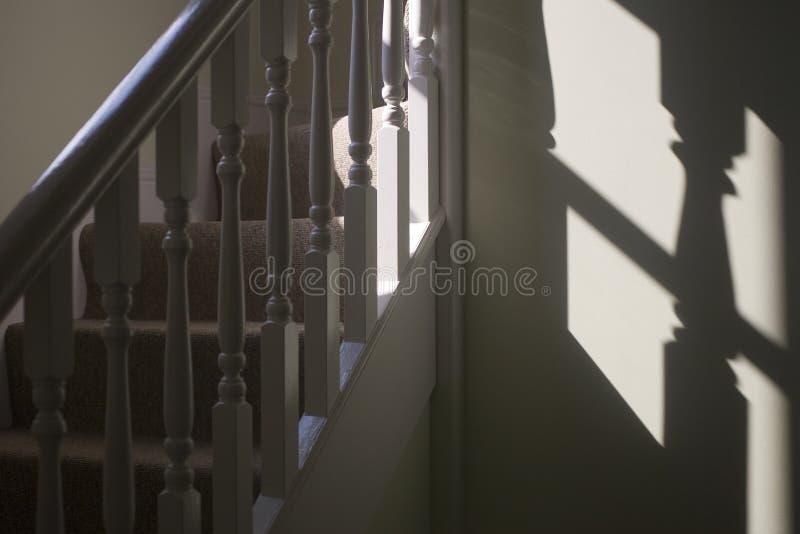 Scale ed inferriata con l'ombra fotografia stock libera da diritti