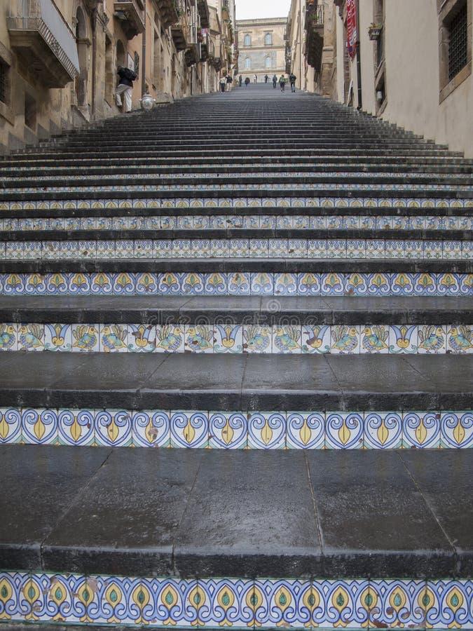 Scale famose di Caltagirone, Sicilia immagine stock