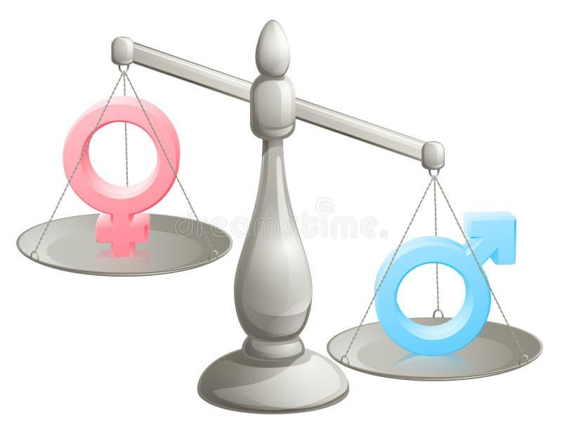 Scale femminili maschii di genere illustrazione vettoriale