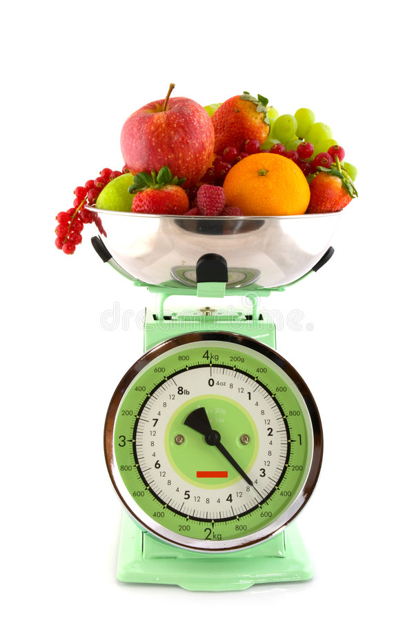 Weight Scale With Fruit Stock Photo  Image Of Apples