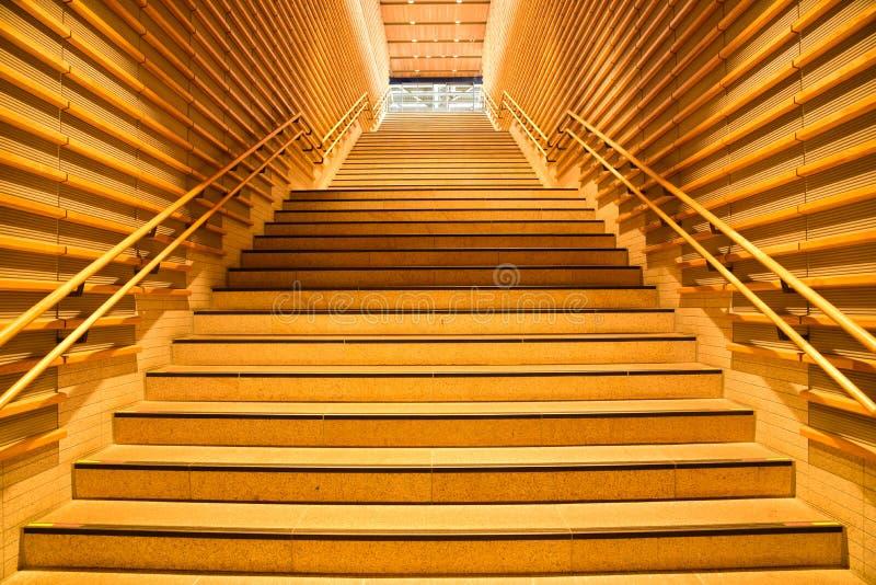Scale interne di legno fotografia stock