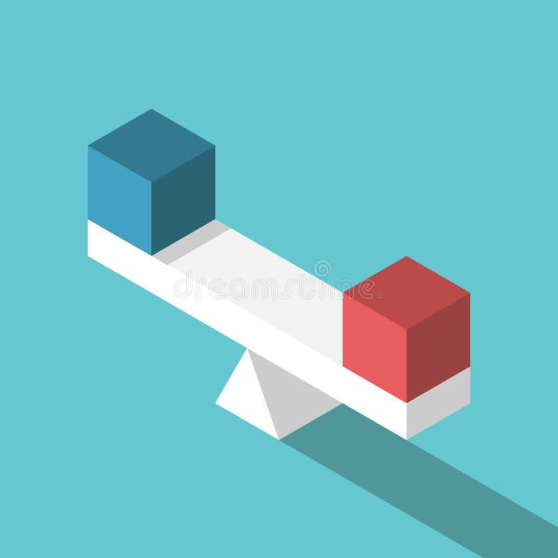 Scale isometriche con i cubi illustrazione vettoriale