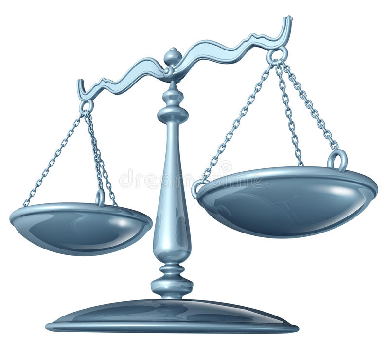 Scale of justice. Fairness in the court of law royalty free illustration
