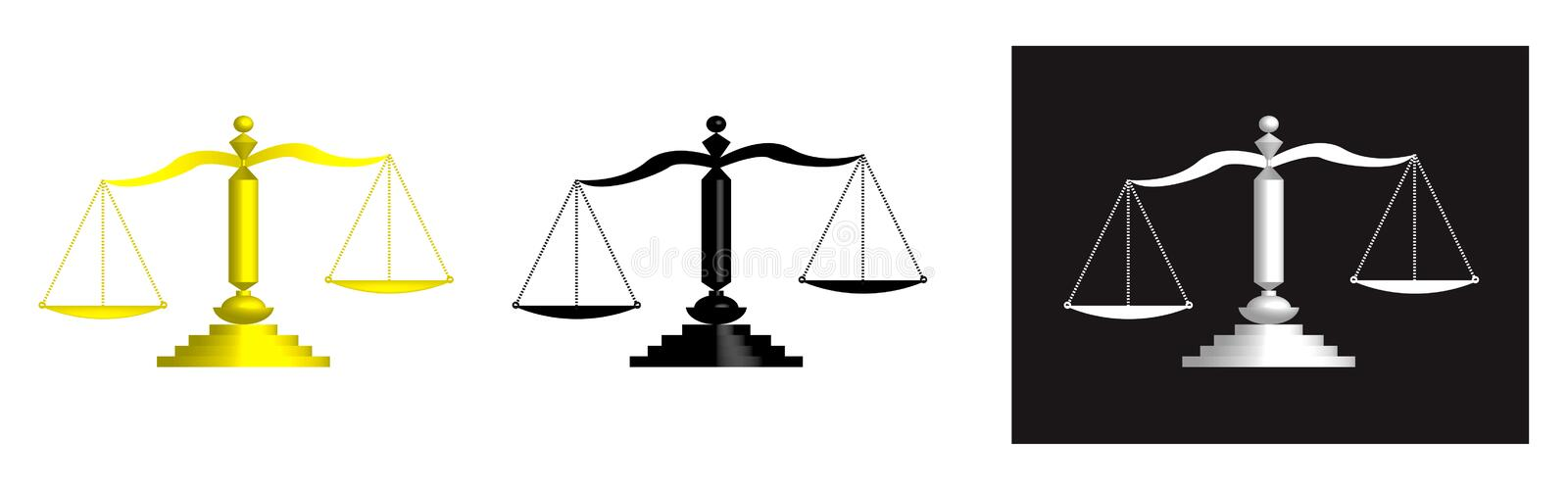 The scale of justice vector illustration