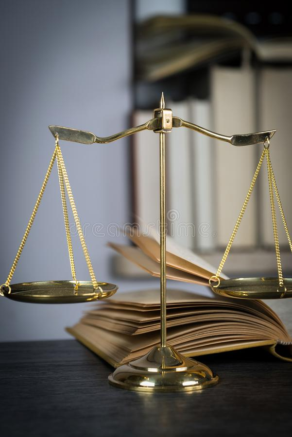 Scale Of Justice. Wooden Judge`s Gavel. The Criminal Law ...
