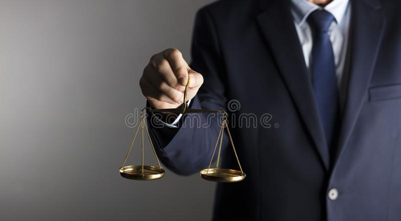 Counselor concept. Scale of justice. Law concept royalty free stock photo