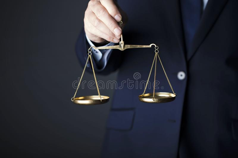 Counselor concept. Scale of justice. Law concept royalty free stock photos