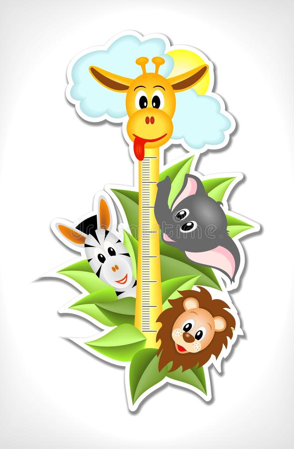 Scale with merry animals stock illustration