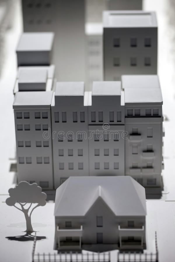 Scale Model Building. Creation photo stock image