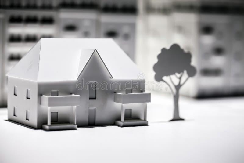 Scale Model Building. Creation photo stock photos