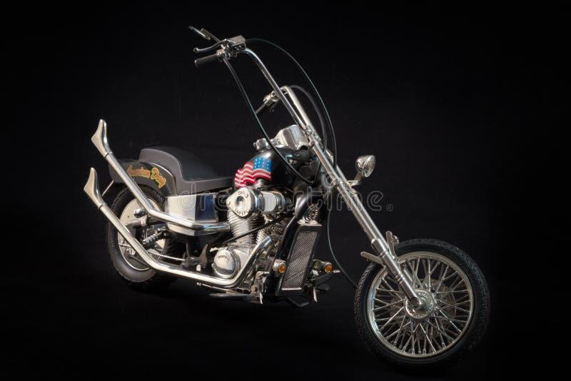 A scale model Honda motorcycle stock photo