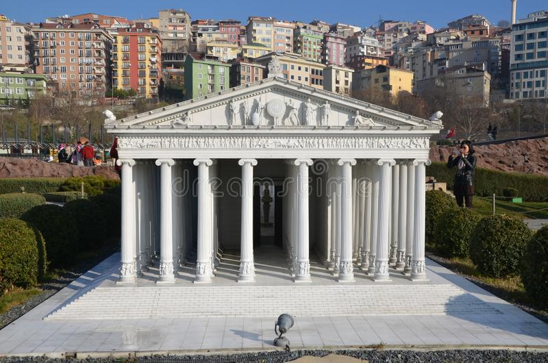 Scale model of Temple of Artemis royalty free stock image