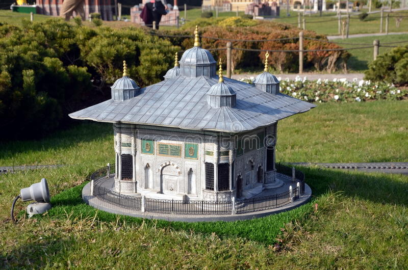 Scale model of tomb of Sultan Mehmed III. ISTANBUL, TURKEY - DEC 27, 2015 - Scale model of tomb of Sultan Mehmed III at Miniaturk park in Istanbul, the largest royalty free stock photos