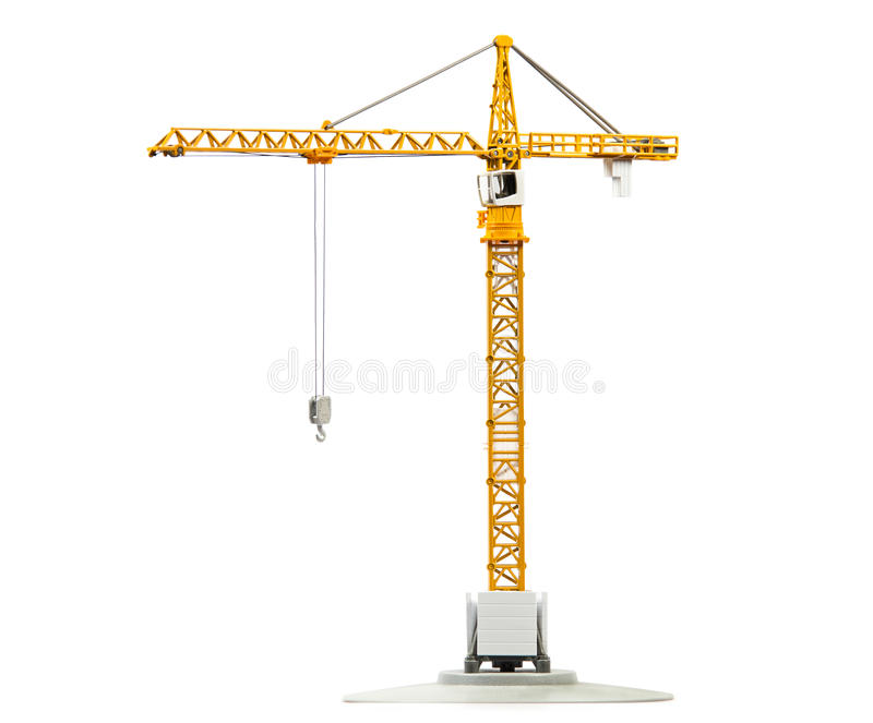 Scale model of tower crane royalty free stock image