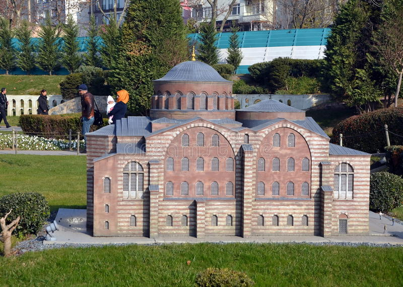Scale model of a Turkish bath or hammam. STANBUL, TURKEY - DEC 27, 2015 - Scale model of a Turkish bath or hammam at Miniaturk park in istanbul, the largest stock image
