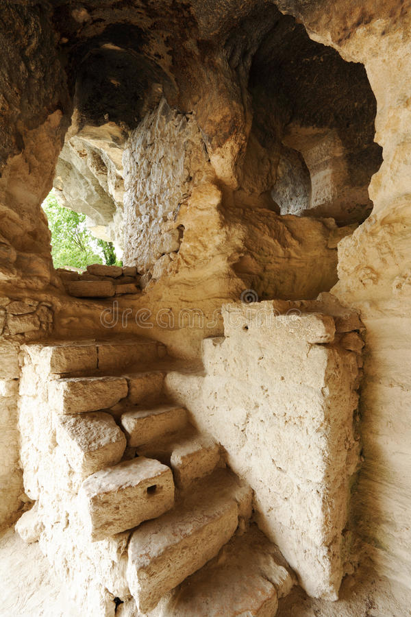 Scale nel monastero di Aladzha fotografie stock libere da diritti
