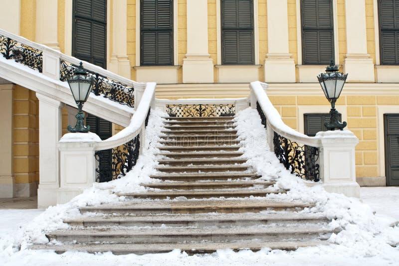 Scale nel palazzo di Vienna fotografia stock libera da diritti