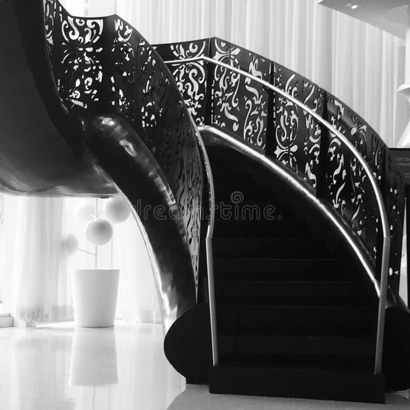 Scale nere all'hotel di Mondrian fotografia stock